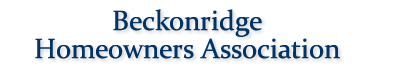beckonridge home owners association